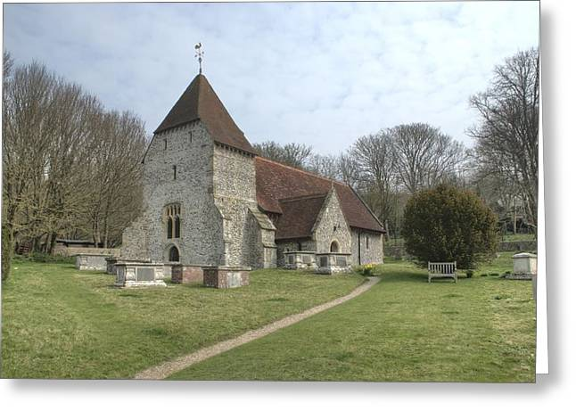 Church Near Seaford Eastbourne Greeting Card by Nigel Goddard