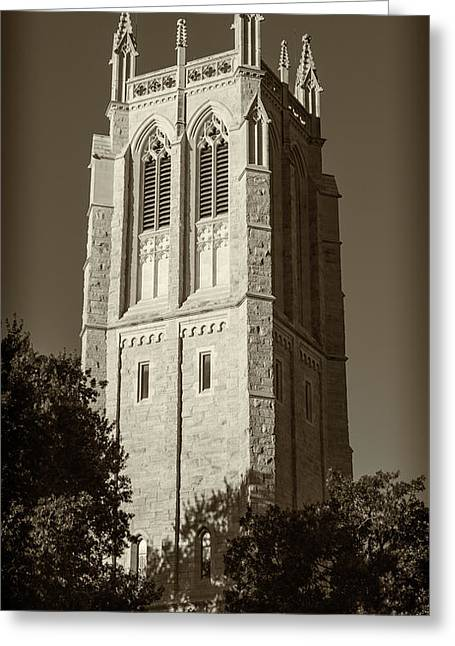 Church Of Heavenly Rest Bell Tower #2 Greeting Card by Stephen Stookey