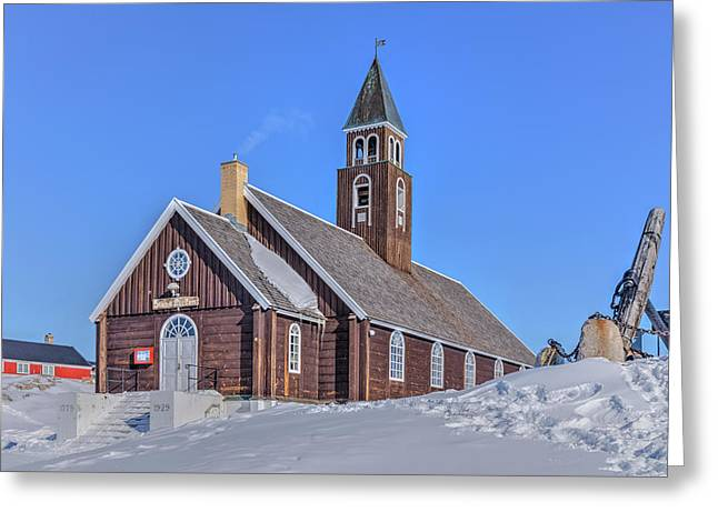 church of Ilulissat - Greenland Greeting Card by Joana Kruse