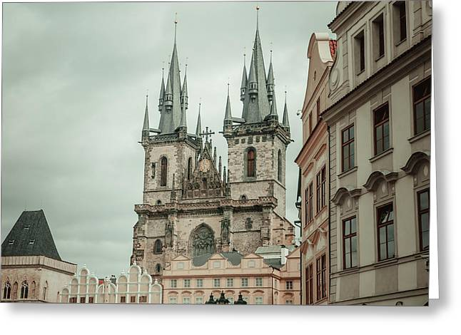 Greeting Card featuring the photograph Church Of Our Lady Before Tyn by Jenny Rainbow
