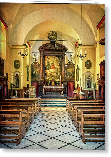 Church Of San Francesco Monterosso Greeting Card by Joan Carroll