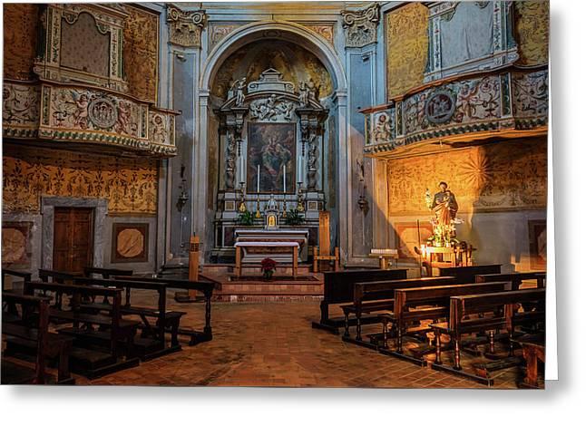 Church Of San Giuseppe Del Duomo Orvieto Italy Greeting Card