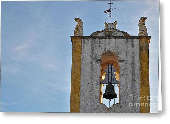 Church Of Santiago Bell Tower In Tavira. Portugal Greeting Card