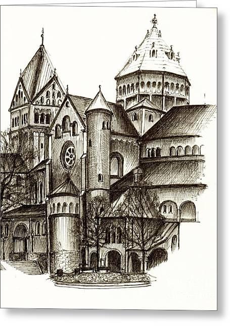 Church Of St. Anna Munich Greeting Card by Karina Plachetka