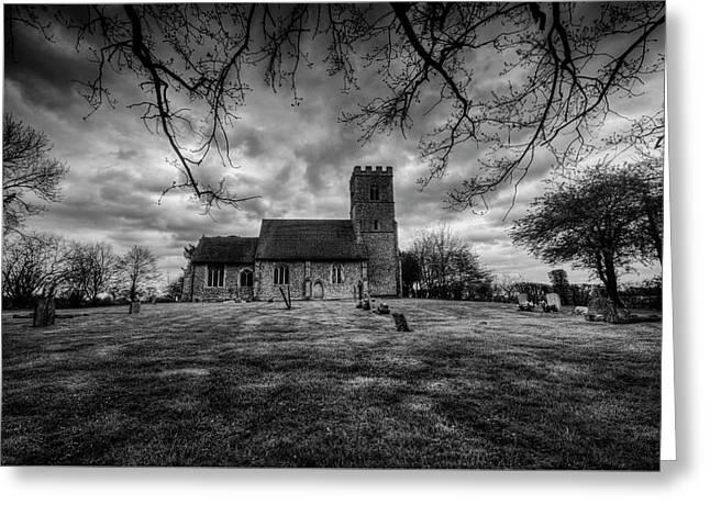 Church Of St Botolph Churchyard Greeting Card