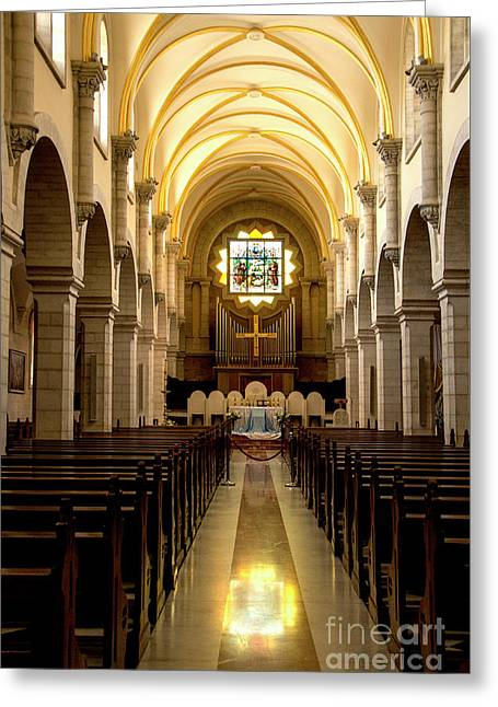 Church Of St Catherine In Bethlehem Greeting Card by Adriana Zoon
