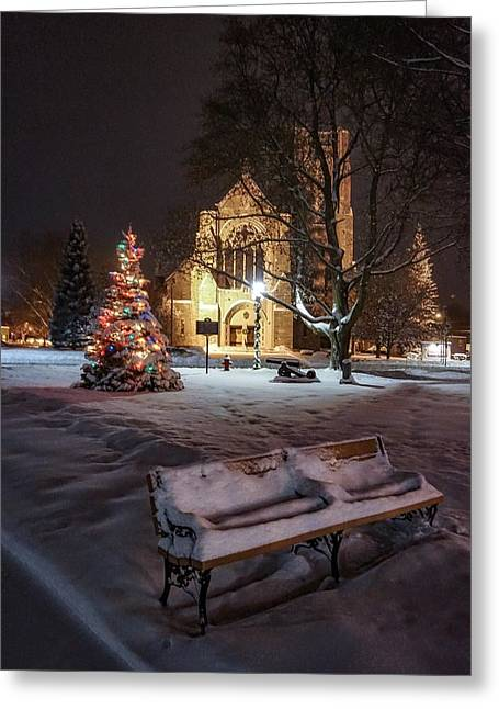 Church Of St Mary St Paul At Christmas Greeting Card