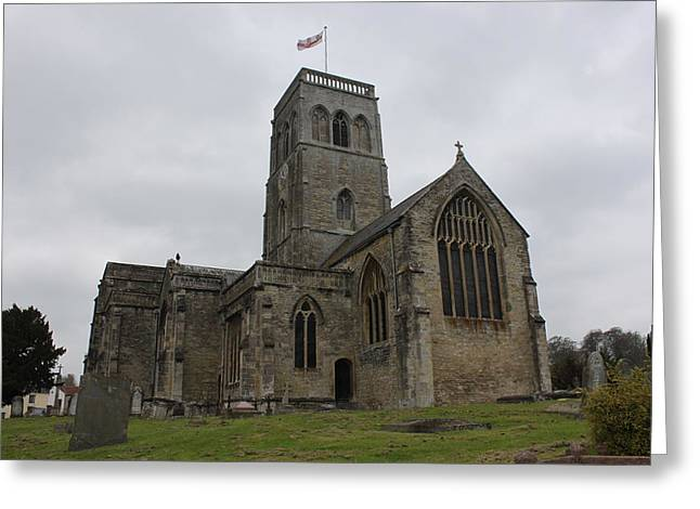 Church Of St. Mary's - Wedmore Greeting Card by Lauri Novak