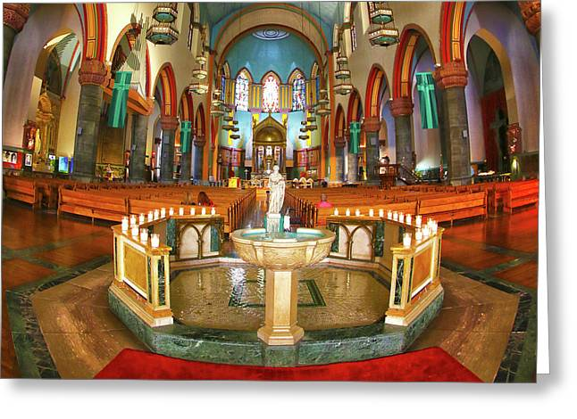Greeting Card featuring the photograph Church Of St. Paul The Apostle by Mitch Cat