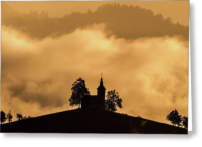 Greeting Card featuring the photograph Church Of St. Thomas #2 - Slovenia by Stuart Litoff