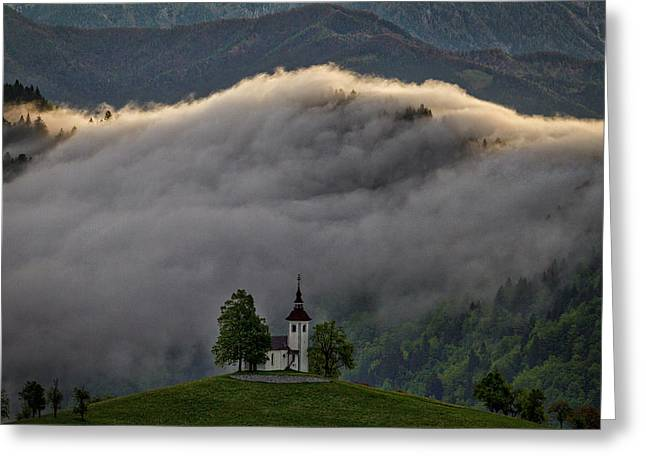 Greeting Card featuring the photograph Church Of St. Thomas - Slovenia by Stuart Litoff