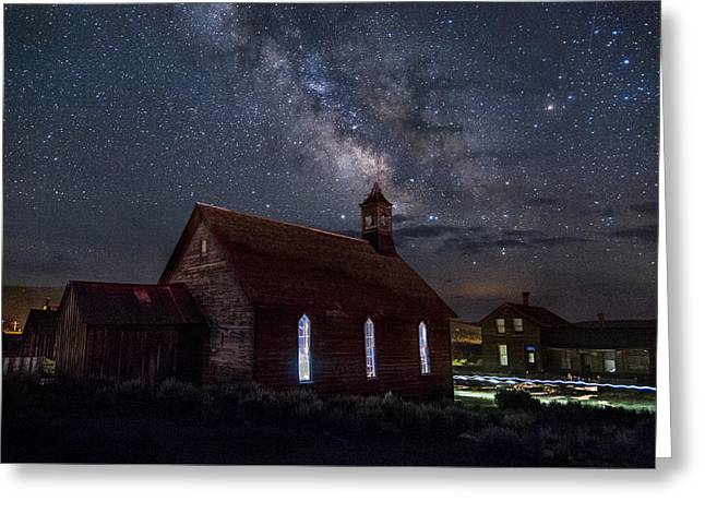 Church Of Stars Greeting Card by Cat Connor