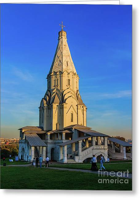 Church Of The Ascension In Kolomenskoye, Moscow Greeting Card