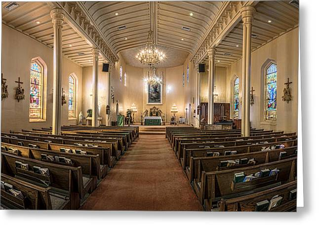 Church Of The Assumption Of The Blessed Virgin Pano 2 Greeting Card by Andy Crawford