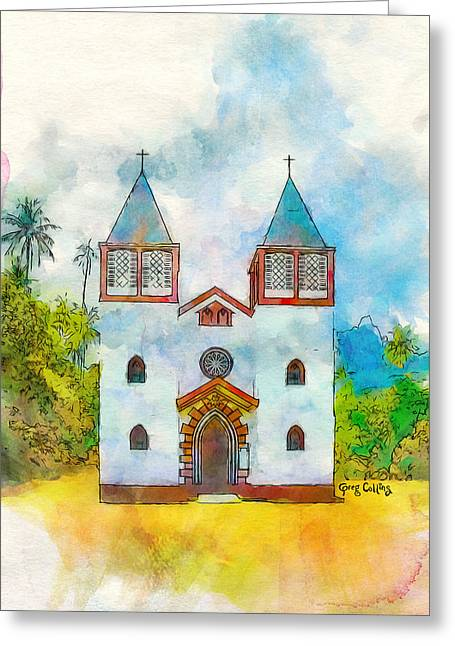 Church Of The Holy Family Greeting Card