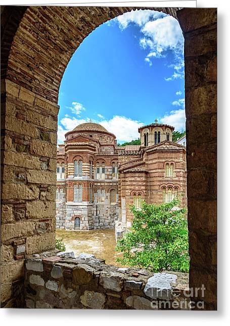 Church Of The Holy Luke At Monastery Of Hosios Loukas In Greece Greeting Card
