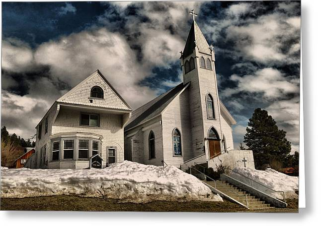 Greeting Card featuring the photograph Church Of The Immaculate Conception Roslyn Wa by Jeff Swan