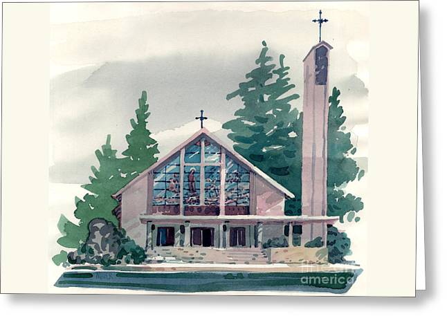 Church Of The Immaculate Heart Of Mary Greeting Card by Donald Maier