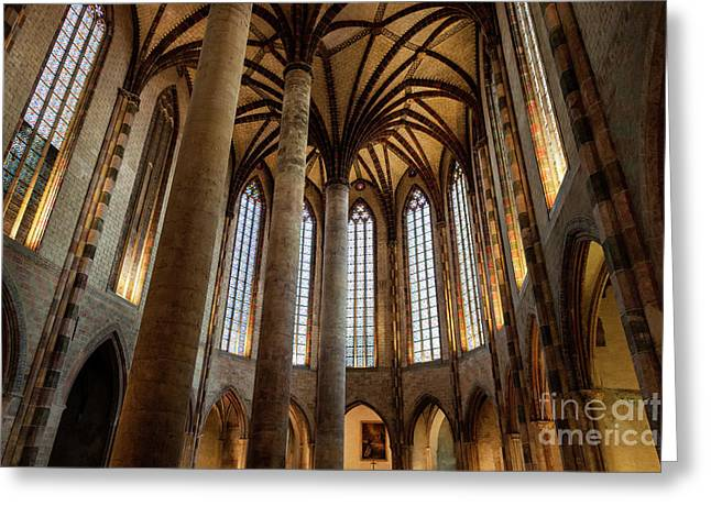 Greeting Card featuring the photograph Church Of The Jacobins Interior by Elena Elisseeva
