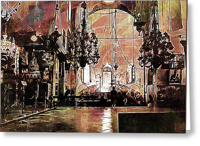 Church Of The Nativity Bethlehem Greeting Card by Dorothy Berry-Lound