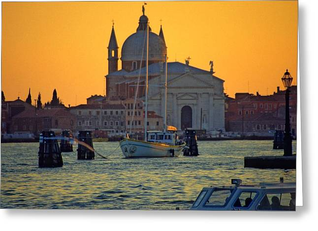 Church Of The Redentore In Venice Greeting Card by Michael Henderson