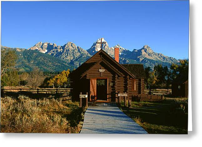 Church Of Transfiguration, Grand Teton Greeting Card by Panoramic Images