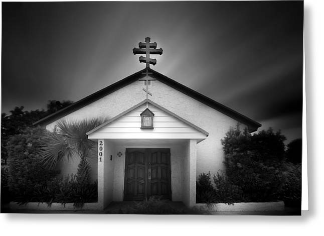 Church On A Cloudy Day Greeting Card