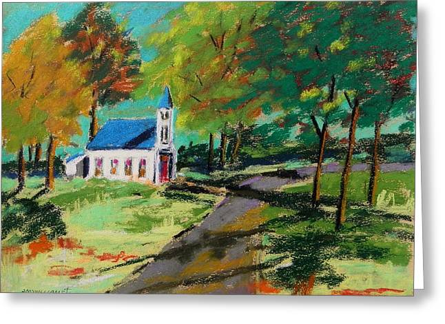 Church On The Bend Landscape Greeting Card by John Williams