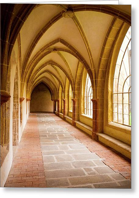 Church Passage Greeting Card by Rae Tucker