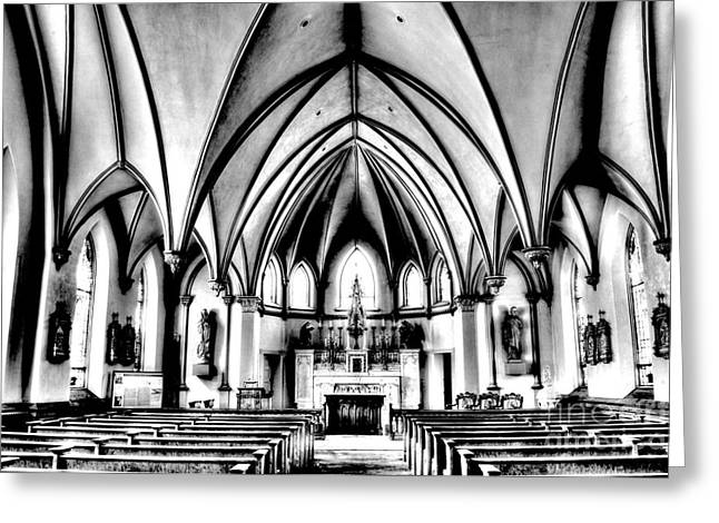 Church Greeting Card by Paul W Faust - Impressions of Light