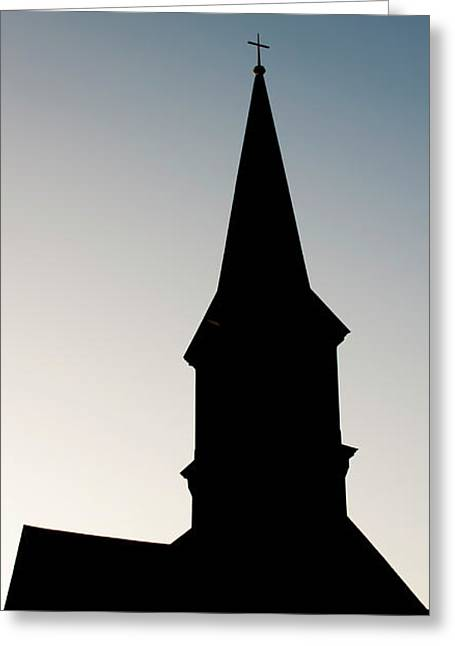 Church Silhouette Greeting Card by Patrick Power