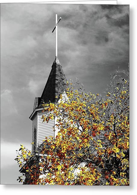 Church Steeple Greeting Card