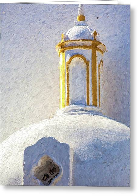 Church Steeple Of Portugal Greeting Card