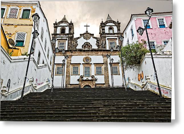 Greeting Card featuring the photograph Church Steps by Kim Wilson