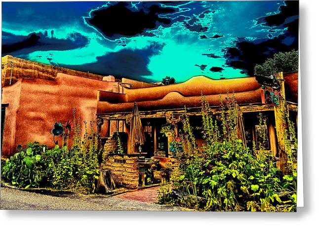Church Street Cafe - Albuquerque Greeting Card by David Patterson