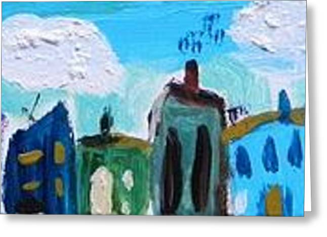 Greeting Card featuring the painting Church Street by Mary Carol Williams