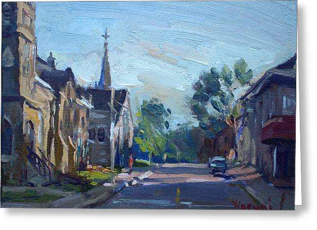 Churche In Downtown Georgetown On Greeting Card