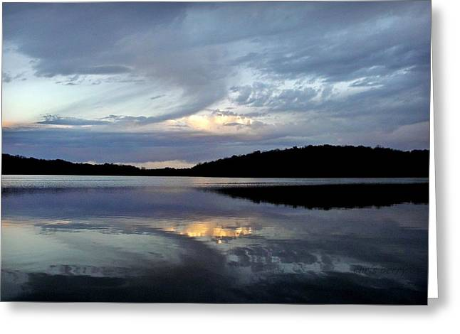 Churning Clouds At Sunrise Greeting Card by Chris Berry