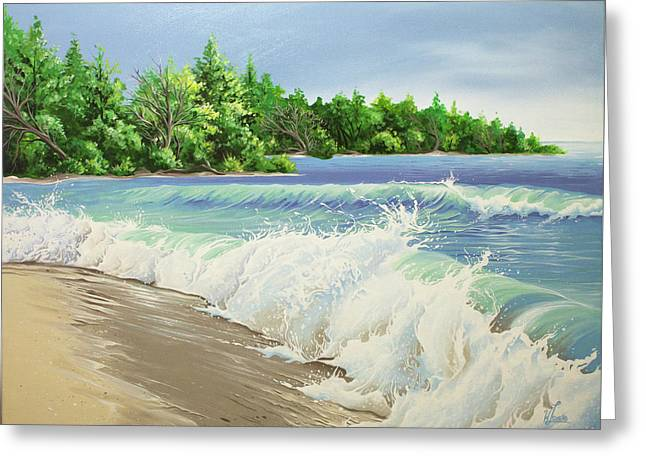 Churning Sand  Greeting Card