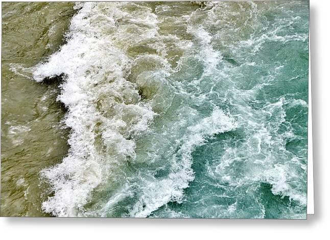Colliding Waters At Vishnuprayag India Greeting Card