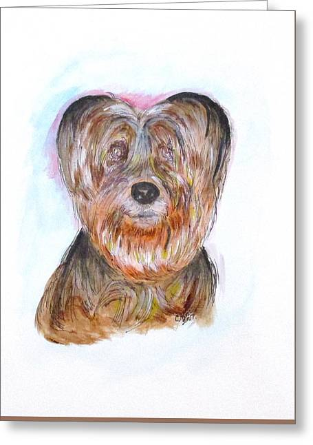Ciao I'm Viki Greeting Card by Clyde J Kell
