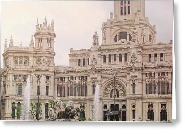 Cibeles Palace Greeting Card by JAMART Photography