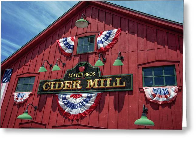 Cider Mill Greeting Card by Guy Whiteley