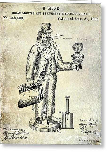 Cigar Lighter Patent 1886  Greeting Card