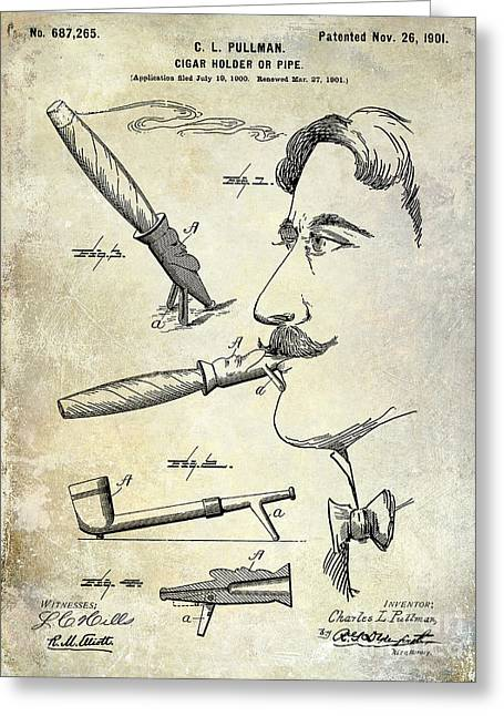 Cigar Patent 1901 Greeting Card