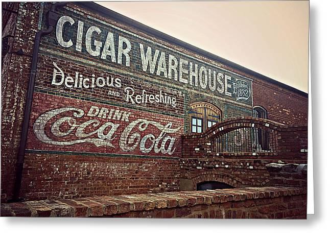 Cigar Warehouse Greenville Sc Greeting Card by Kathy Barney