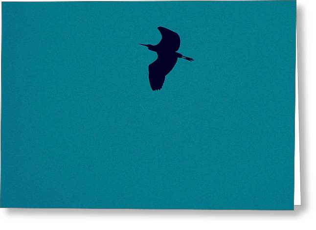 Greeting Card featuring the digital art Cigogne En Silhouette by Marc Philippe Joly
