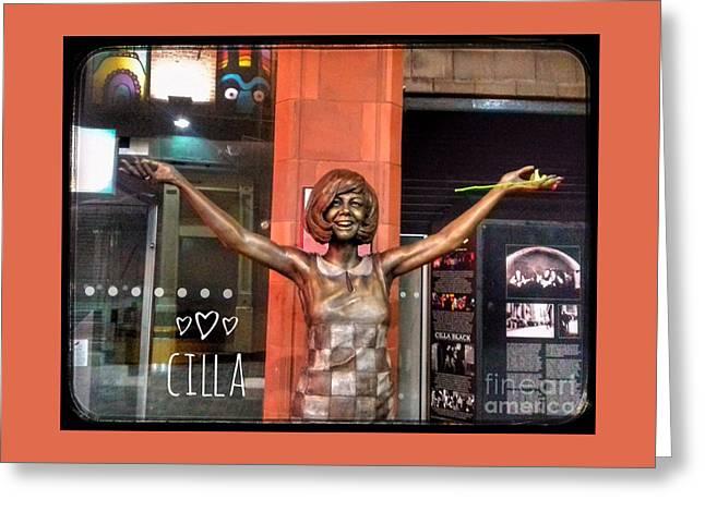 Cilla At The Cavern Framed Greeting Card