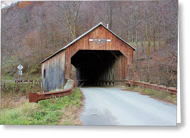 Cilley Covered Bridge Greeting Card