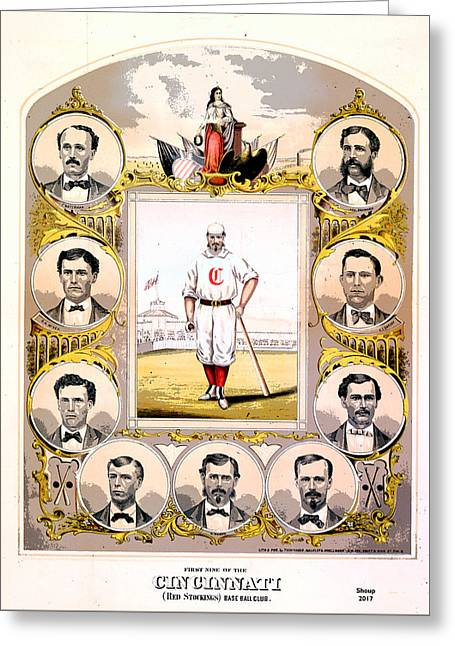 Cincinnati Base Ball Club Greeting Card